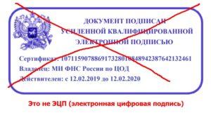 Выписка ЕГРН с электронной подписью - почему нет синей печати?